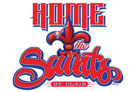 Saint Clair Saints Gym Wall Graphic