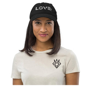 "Purveyor of Love ""Love All Blocked"" Distressed Dad Hat"