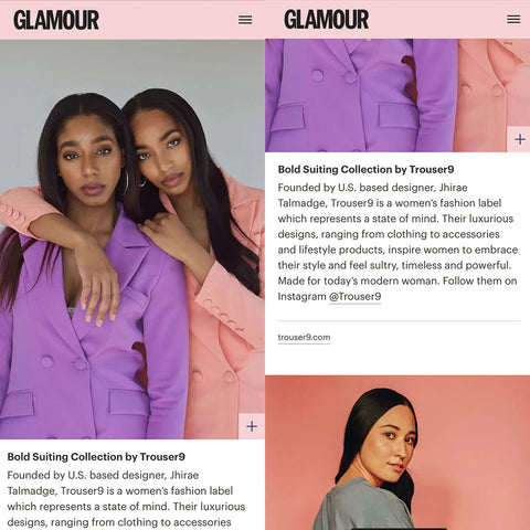 Trouser9 Glamour UK