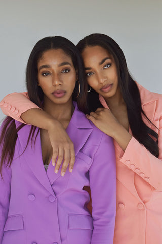 Jaye and Dri in Trouser9 Suits