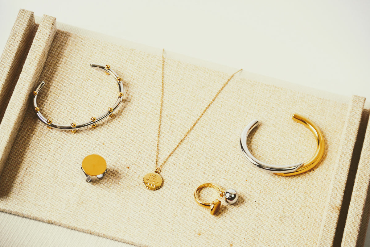 two toned jewelry collection