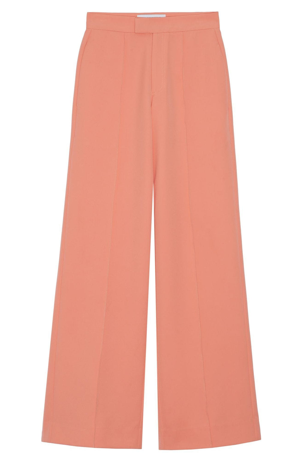 women's peach wide leg pants