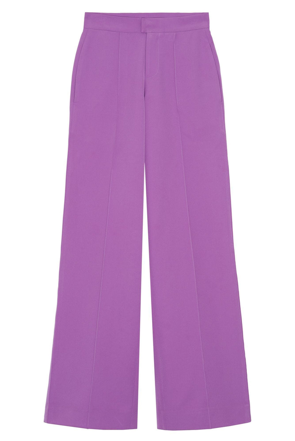 women's purple wide leg pants