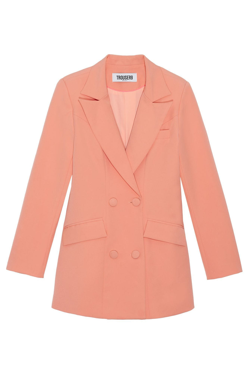 women's Peach double breasted blazer
