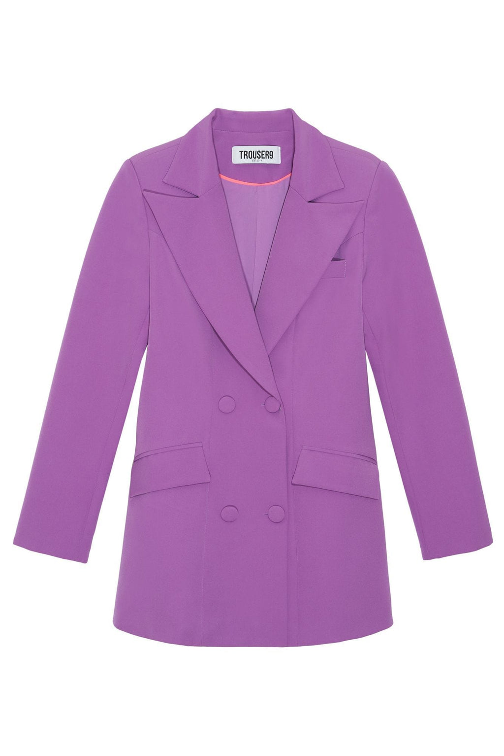 women's Purple double breasted blazer