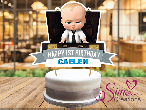 BOSS BABY CAKE TOPPER | CAKE CENTERPIECE | CAKE DECORATIONS | CUSTOM PHOTO