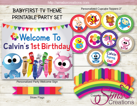 BABYFIRST TV BIRTHDAY PARTY DECORATION KIT | PARTY PRINTABLES