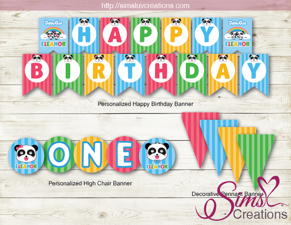 BABYBUS PARTY DECORATION KIT | BABY PANDA PARTY PRINTABLES