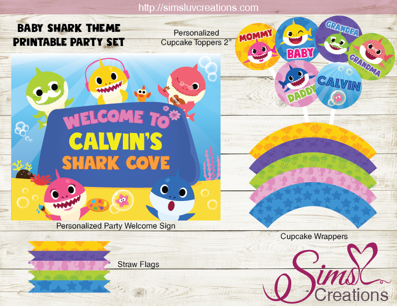 BABY SHARK PARTY SUPPLIES | PINK FONG BABY SHARK PARTY PRINTABLES