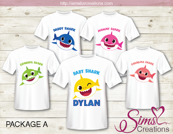 BABY SHARK T SHIRT IRON ON TRANSFER | DIGITAL FILE FOR BABY SHARK T-SHIRTS