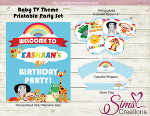BABY TV PARTY KIT | BABY TV PARTY PRINTABLES