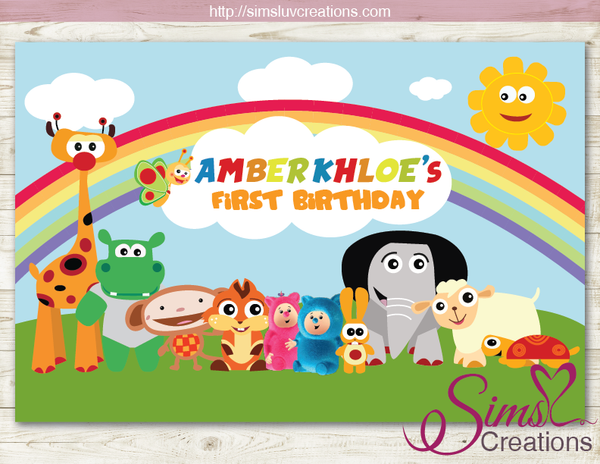 BABY TV PRINTABLE BACKDROP BANNER | BABY TV BIRTHDAY BACKDROP