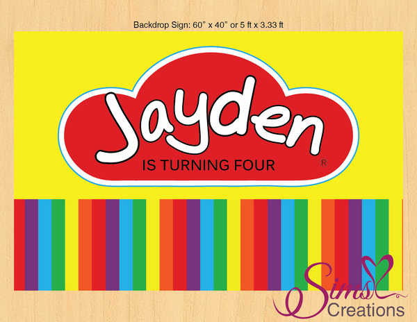 PLAYDOH THEME PRINTABLE BACKDROP BANNER | PLAY CLAY PARTY POSTER