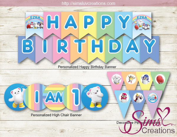 BADANAMU THEME PARTY SUPPLIES | PARTY PRINTABLES DECORATION KIT