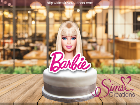 BARBIE THEME CAKE TOPPER | CAKE CENTERPIECE | CAKE DECORATIONS