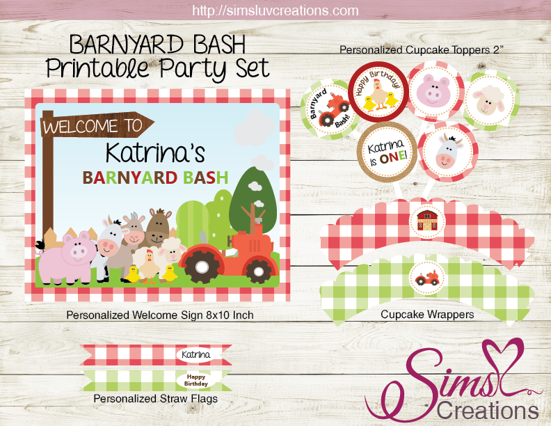BARNYARD BIRTHDAY PARTY KIT | FARM PARTY PRINTABLES
