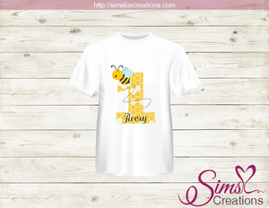 BUMBLEBEE PARTY PRINTABLE T-SHIRT IRON ON TRANSFER | DIGITAL IMAGE FOR HONEY BEE BIRTHDAY T-SHIRTS