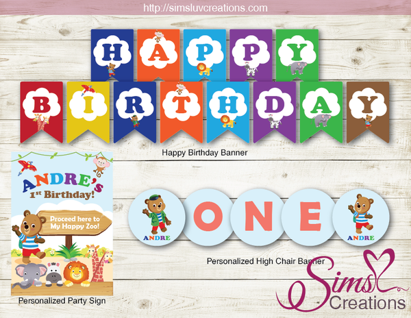 BIZZY BEAR ZOO RANGER PARTY KIT | JUNGLE ANIMALS PARTY PRINTABLES