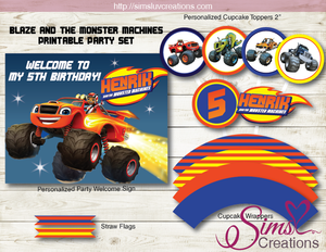 BLAZE AND THE MONSTER MACHINES PARTY KIT | MONSTER TRUCK BIRTHDAY DECORATION SUPPLIES