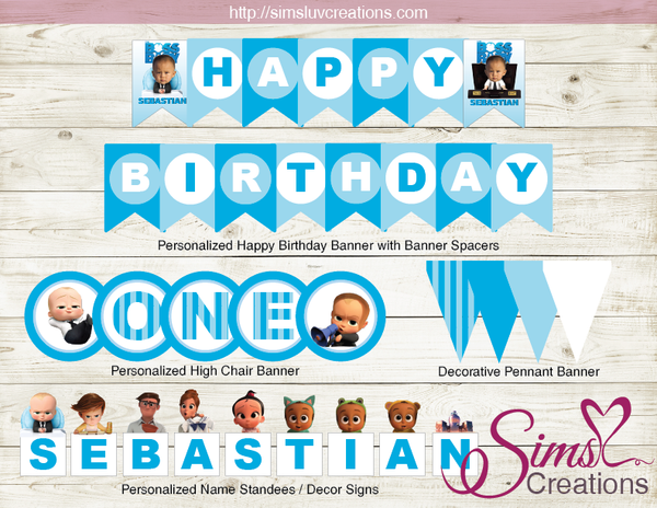BOSS BABY PARTY PRINTABLES KIT | BOSS BABY BIRTHDAY DECORATION KIT