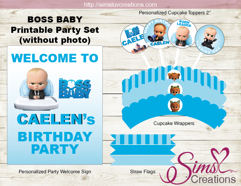 graphic regarding Boss Baby Printable named Manager Child Social gathering PRINTABLES Package Manager Child BIRTHDAY