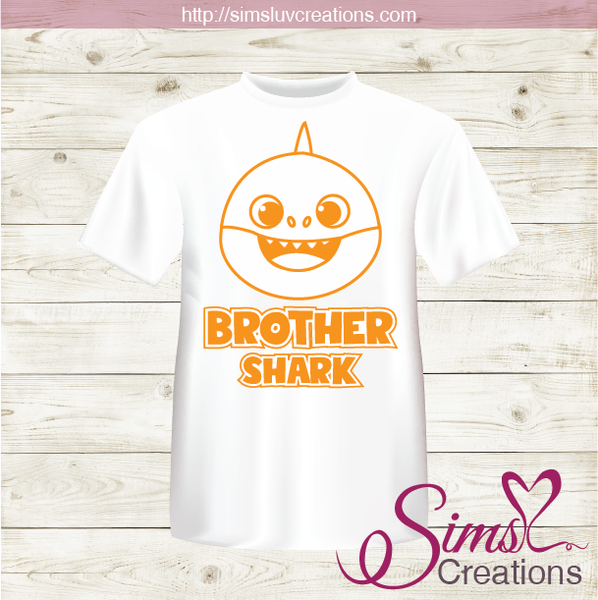 BABY SHARK FAMILY IRON ON TRANSFER | DIGITAL FILE FOR BABY SHARK T-SHIRTS