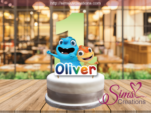 CAM & LEON BIRTHDAY CAKE TOPPER | CAKE CENTERPIECE | CAKE DECORATIONS