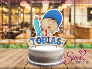 SUPER SIMPLE CARL'S CARWASH CAKE TOPPER | CAKE CENTERPIECE | CAKE DECORATIONS