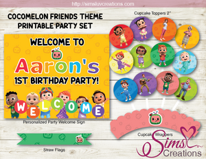 COCOMELON BIRTHDAY PARTY DECORATION KIT | PARTY PRINTABLE SUPPLIES