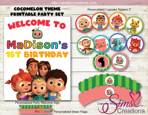 COCOMELON BIRTHDAY PARTY DECORATION KIT | PARTY PRINTABLES