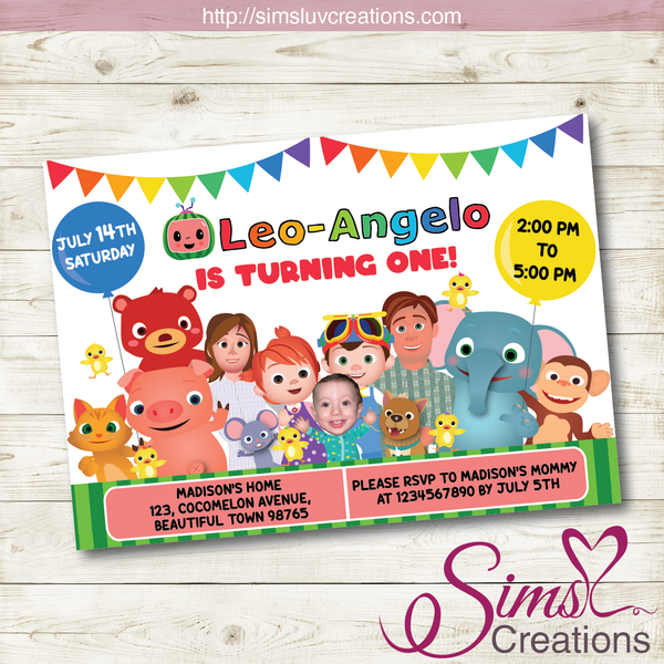 COCOMELON BIRTHDAY PRINTABLE INVITATION | PARTY INVITE