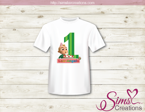 COCOMELON PARTY PRINTABLE T-SHIRT IRON ON TRANSFER | DIGITAL IMAGE FOR COCOMELON BIRTHDAY T-SHIRTS