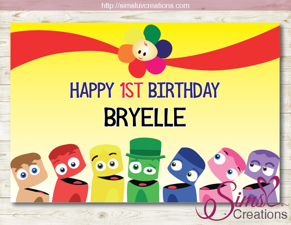 BABYFIRST TV PRINTABLE PARTY BACKDROP BANNER | COLOR CREWS BIRTHDAY POSTER