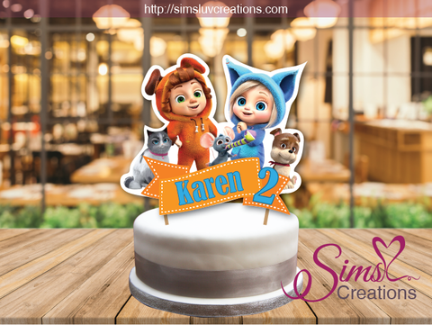 DAVE & AVA CAKE TOPPER | CAKE CENTERPIECE | CAKE DECORATIONS