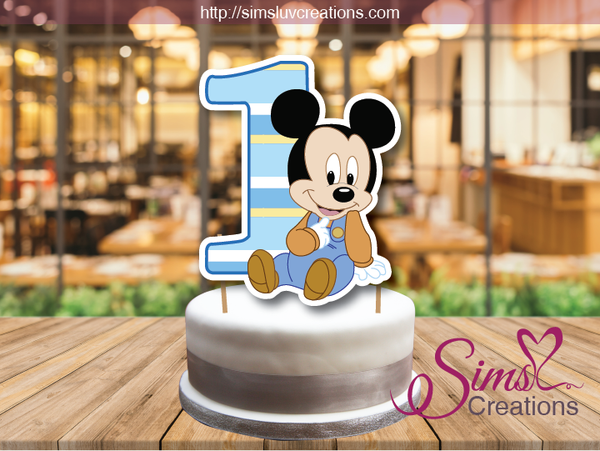 DISNEY BABY MINNIE CAKE TOPPER | BABY MICKEY CAKE CENTERPIECE | CAKE DECORATIONS