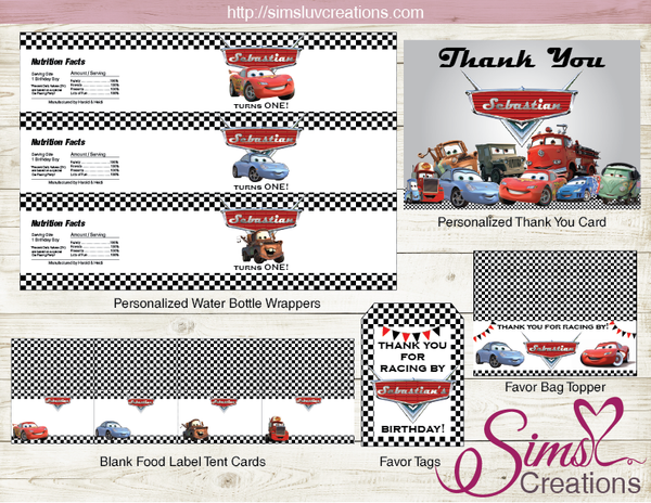 DISNEY CARS BIRTHDAY DECORATION KIT | PARTY PRINTABLES