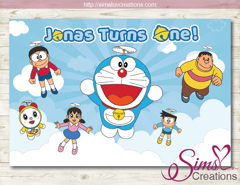 DORAEMON PRINTABLE PARTY BACKDROP BANNER | BIRTHDAY POSTER