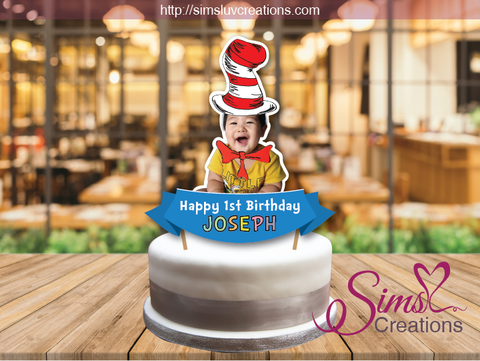 DR SEUSS CAKE TOPPER | CAKE CENTERPIECE | CAKE DECORATIONS | CUSTOM PHOTO