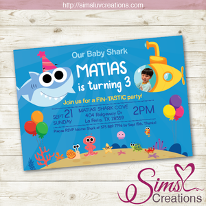 FINNY THE BABY SHARK BIRTHDAY PRINTABLE INVITATION | SUPER SIMPLE SONGS PARTY INVITATION