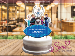 DISNEY FROZEN CAKE TOPPER | CAKE CENTERPIECE | CAKE DECORATIONS
