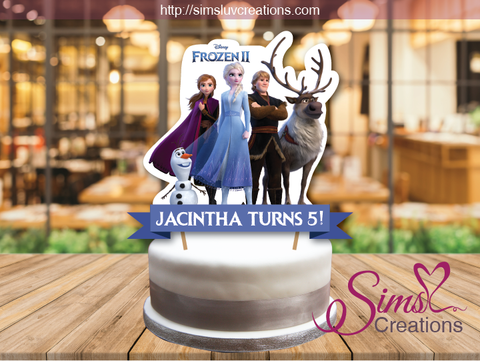 DISNEY FROZEN II CAKE TOPPER | FROZEN 2 CAKE CENTERPIECE | CAKE DECORATIONS
