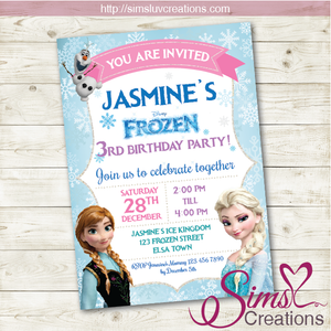 FROZEN BIRTHDAY PRINTABLE INVITATION | FROZEN PARTY INVITE