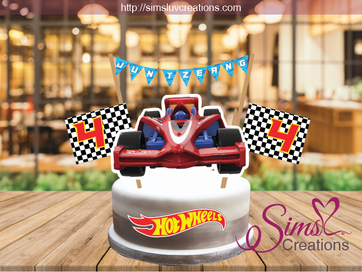 HOT WHEELS CAKE TOPPER | HOT RODS RACE CARS CAKE CENTERPIECE | CAKE DECORATIONS