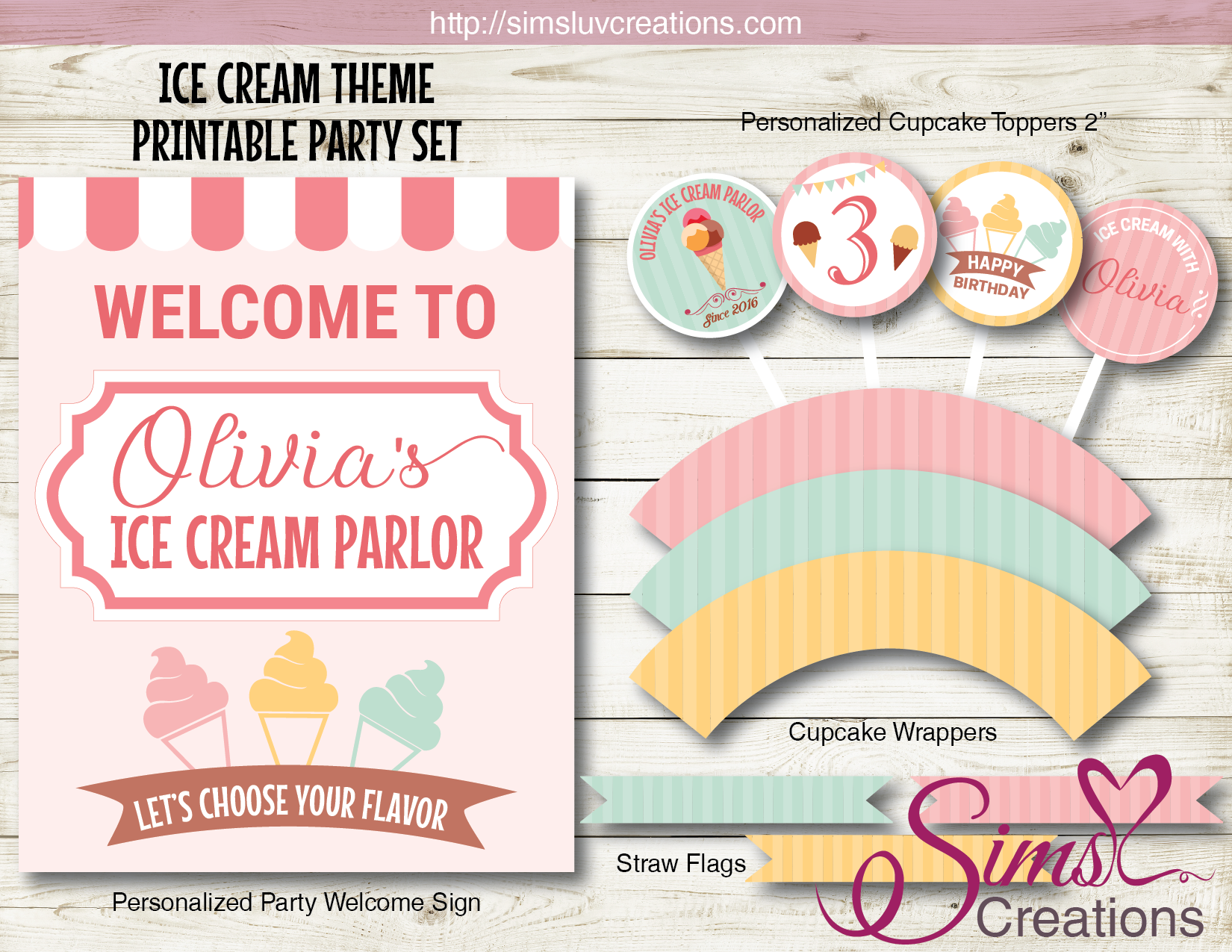 ICE CREAM BIRTHDAY PARTY KIT | PARTY PRINTABLES