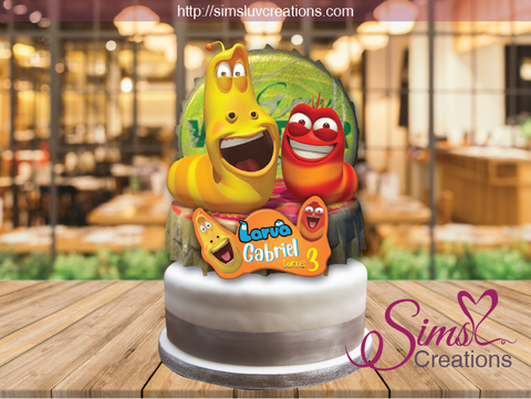 LARVA CAKE TOPPER | CAKE CENTERPIECE | CAKE DECORATIONS