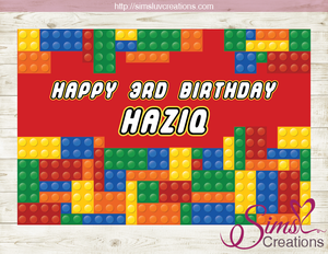 graphic relating to Lego Printable named LEGO PRINTABLE BACKDROP BANNER Colour Acquiring BLOCK BIRTHDAY POSTER