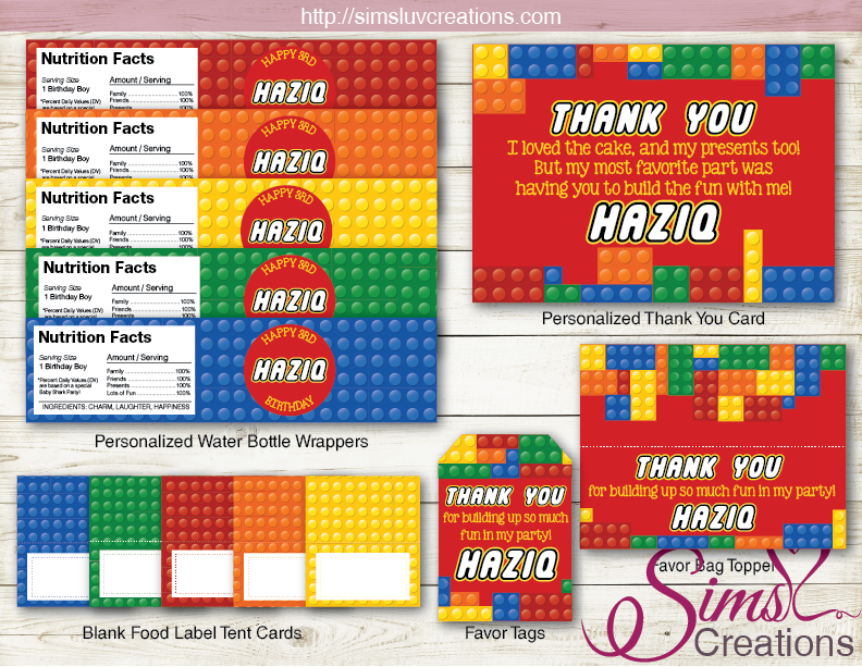 picture relating to Printable Lego Birthday Invitations called LEGO BIRTHDAY Get together Package Coloration Planning BLOCK BIRTHDAY DECORATION Occasion PRINTABLES