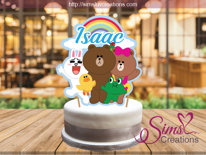 LINE FRIENDS CAKE TOPPER | CAKE CENTERPIECE | CAKE DECORATIONS