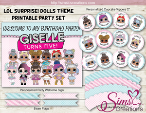 LOL SURPRISE! DOLLS BIRTHDAY PARTY DECORATION KIT | PARTY PRINTABLES
