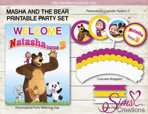 MASHA AND THE BEAR PARTY KIT | PARTY PRINTABLES
